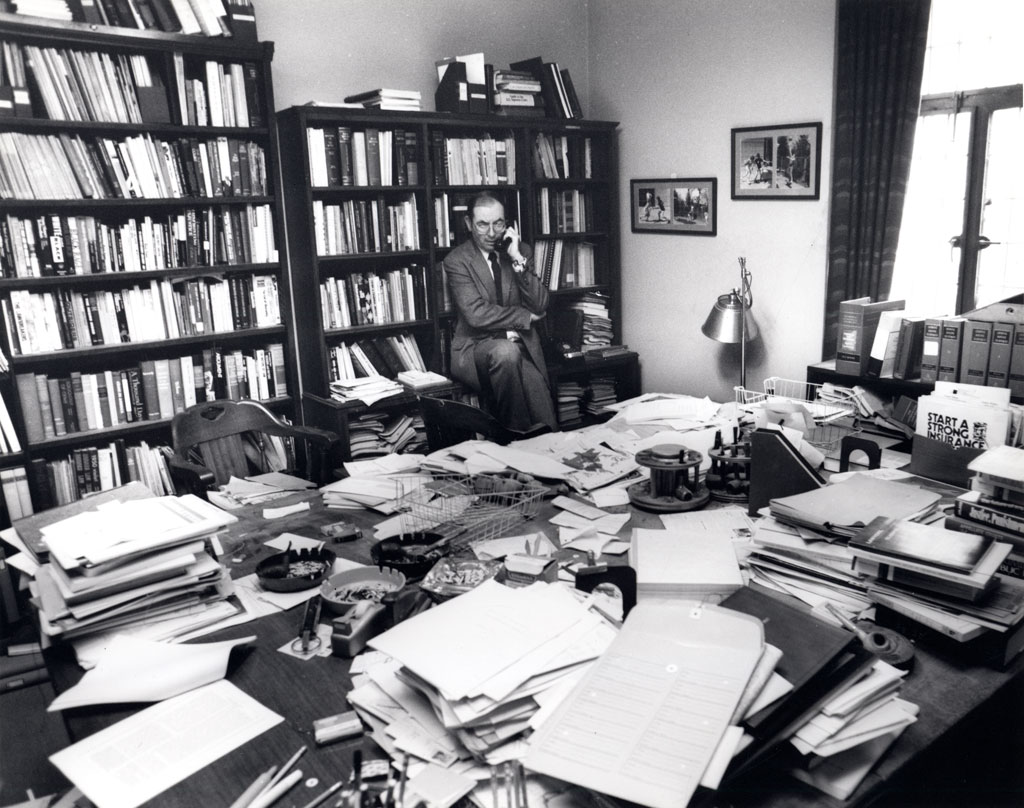 Professor Yale Kamisar in his office.