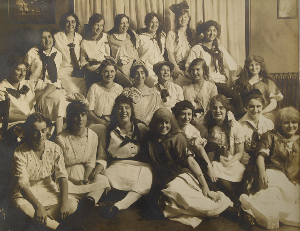 Women of a Michigan sorority in 1914.