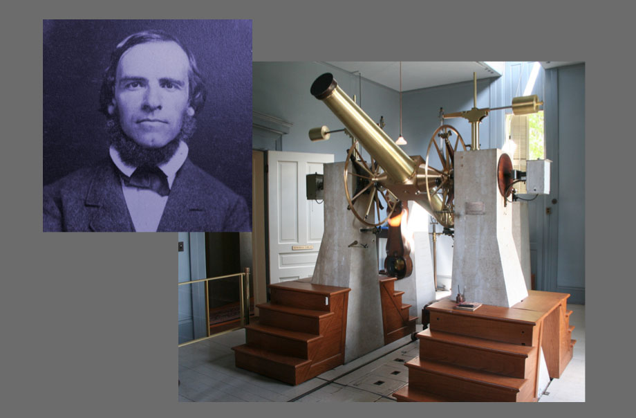 "Franz Brünnow and the meridian circle telescope that was built for Michigan with his advice. When Brünnow was appointed head of the Detroit Observatory, the great German naturalist Alexander von Humboldt assured Americans that Brünnow ""is attached heart and soul…to the intellectual progress of your noble country."""