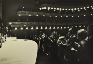 "Revelli's final concert as director of bands was at Carnegie Hall in May 1971, when he retired after 36 years at the University of Michigan. Said the New York Times: ""Since Mr. Revelli is still an energetic man, it is unlikely that his retirement will be an idle one, but no matter what he does, his place in American band history will be prominent and permanent."""
