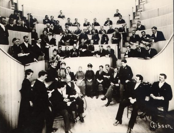 Men made up the overwhelming majority in every classroom, including this one in the medical department.