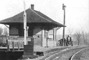 The Panama, Ill., depot, where young William Revelli regularly boarded a train for music lessons in St. Louis, Mo.