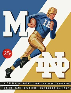 1942 Michigan vs. Notre Dame football program.