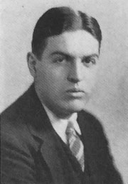 Neil Staebler as a senior at Michigan in 1925-26, his term as editor of The Chimes.