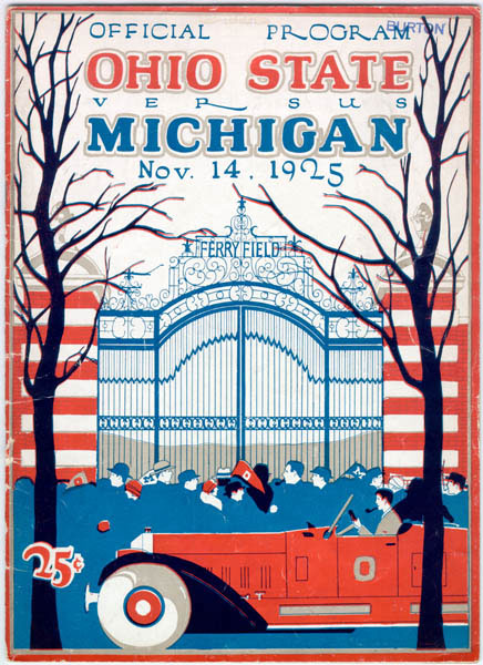 The football program for the 1925 Ohio State game at Ferry Field, published in the midst of Yost's campaign for a new stadium.