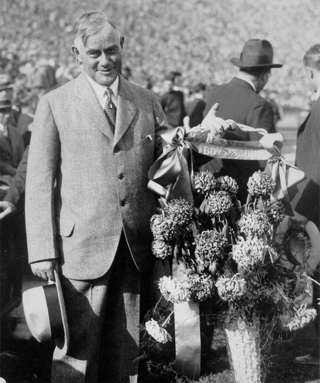 Yost at the dedication of Michigan Stadium on October 22, 1927. (Michigan beat Ohio State, 21-0.)