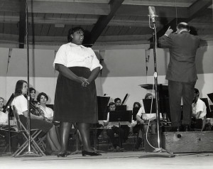 Graduate student Jessye Norman performs at the Interlochen Center for the Arts in 1968.