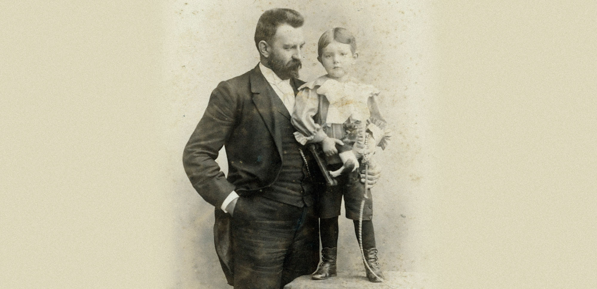 George Mead and young son