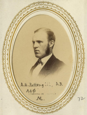Albert Pattengill as a student in the late 1860s, before he joined Michigan's faculty as a professor of Greek.