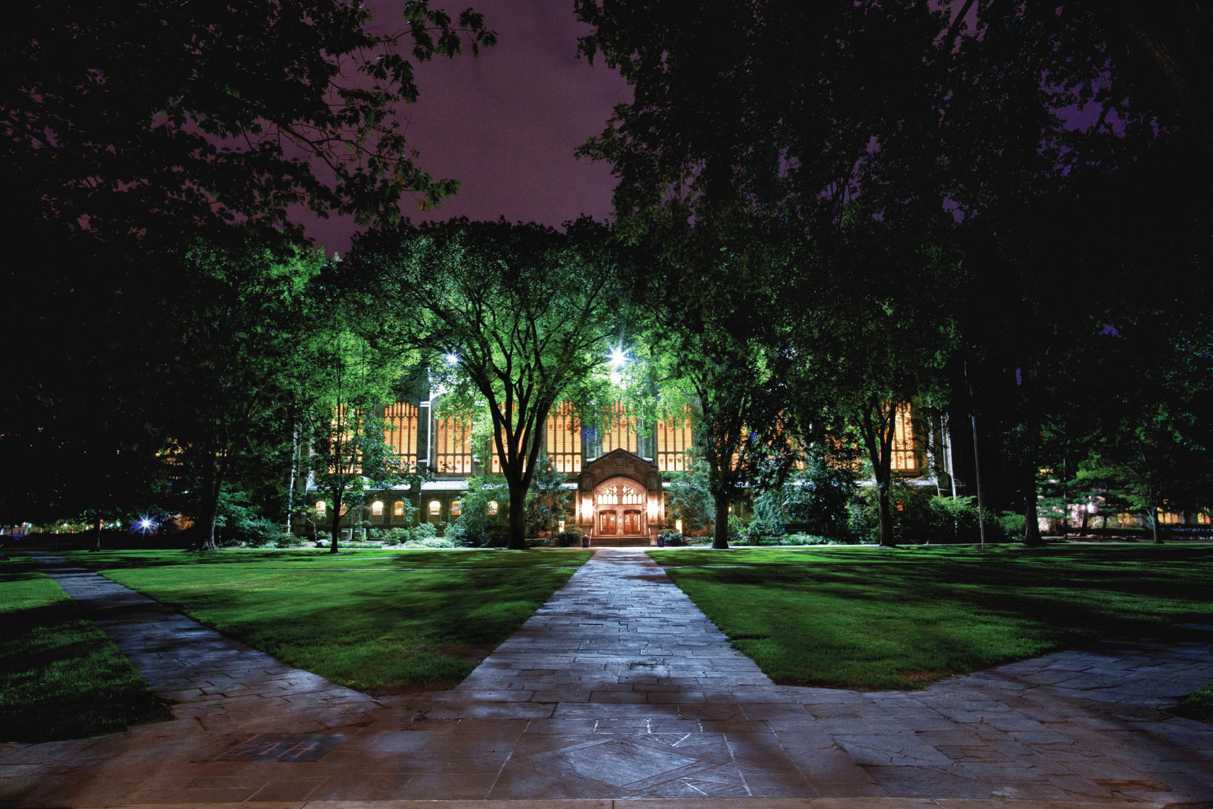 Law Library at night