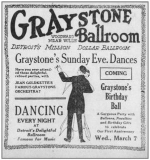 Dancing and elegance were selling points for the Graystone shortly after it opened.