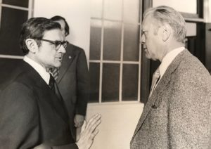 Professor George Grassmuck, a scholar of the executive branch, helped organize Ford's adjunct professorship.
