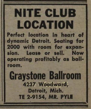 The selling of the Graystone, as advertised nationally in late 1962.