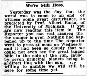 The headline said it all for Iowa readers on Dec. 19, 1919.