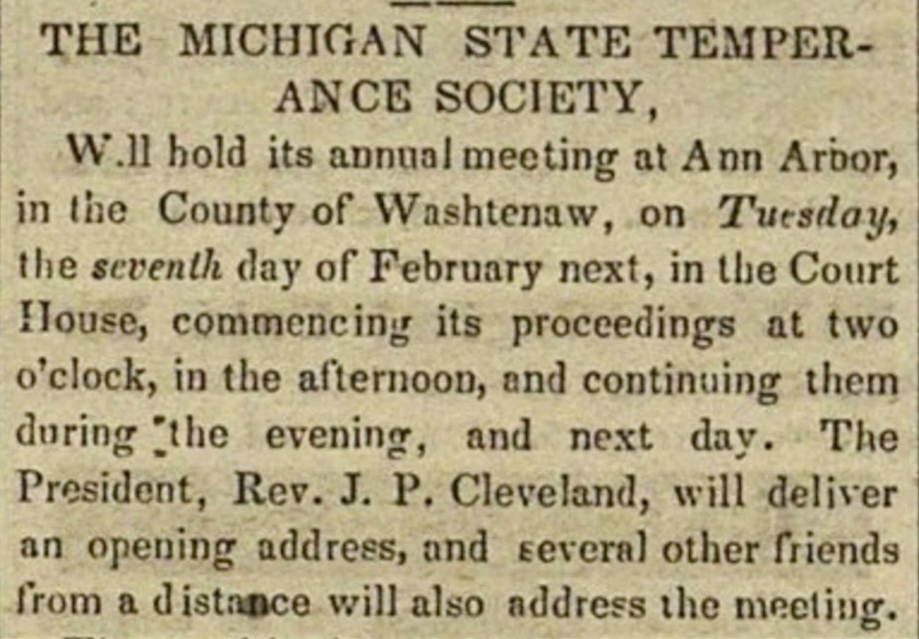 Temperance article