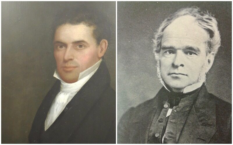 Joseph Whiting, left, and George Palmer Williams
