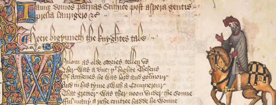 Chaucer manuscript page