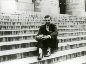 Raoul Wallenberg on the steps of Angell Hall.