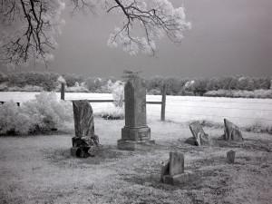 Rural graveyard.