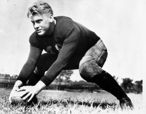 Gerald R. Ford was a star U-M center.