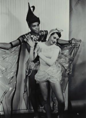 James Earl Jones performs in 1952 as a U-M student.