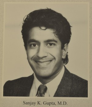 Sanjay Gupta as a medical school graduate.