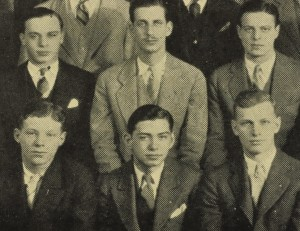 William Chon, front and center, went on to become William Shawn, legendary editor of the New Yorker magazine.