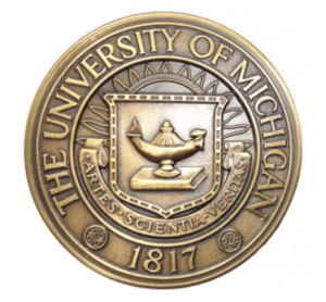 "The University's official seal of today was approved in 1958, with the addition of the word ""The"" to U-M's name."