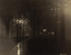 Rainy night on Diag