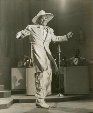 The band leader Cab Calloway in the early 1930s, when zoot suits were the rage and he was a star with