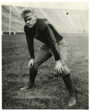 Ford in his senior year with the U-M football team.