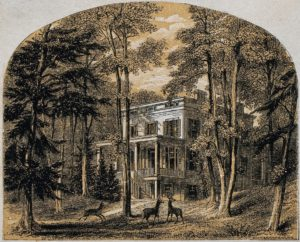 An illustration of the Audubons' home in Henderson, Ky., the artist's base during part of the period when he was painting the plates for The Birds of America.