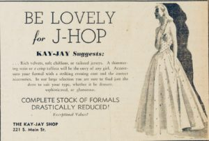 The Daily published dozens of J-Hop-related ads each year, including this one in 1940.