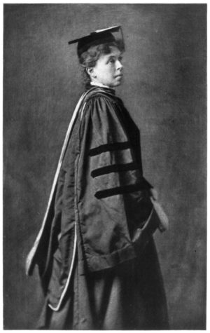 Alice Freeman Palmer (LSA 1876), one of Michigan's earliest women graduates, was a leading spokesperson for women's education. She was also among the first to call for closer and more formal associations among U-M women.