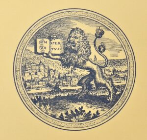 The University of Heidelberg seal from its invitation to the anniversary celebration.
