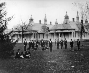 The Pavilion Hospital and its numerous cupolas.