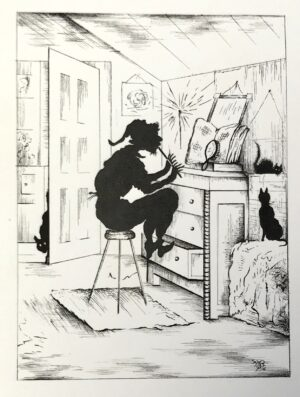 A drawing by Madelon Stockwell.