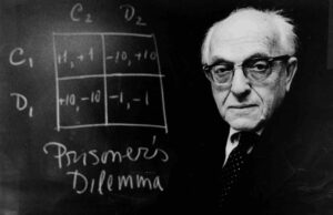 Anatol Rapoport, winner of the first and second Prisoner's Dilemma tournaments, was a specialist in peace research.