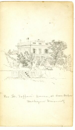 Cropsey's sketch of the President's House.