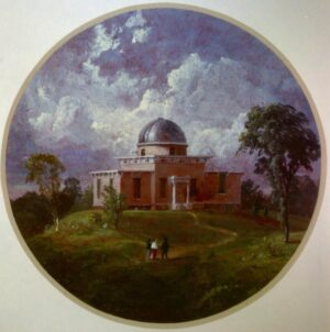Cropsey's 1855 portrait of the Detroit Observatory.
