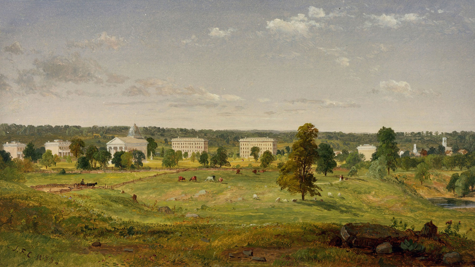 Cropsey Landscape 1855