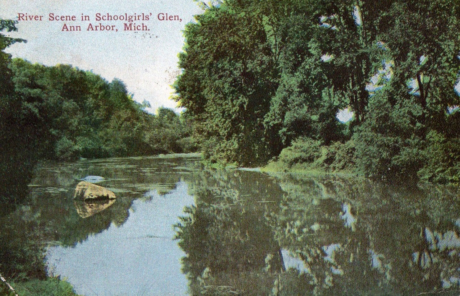 Postcard of Huron at Schoolgirls Glen