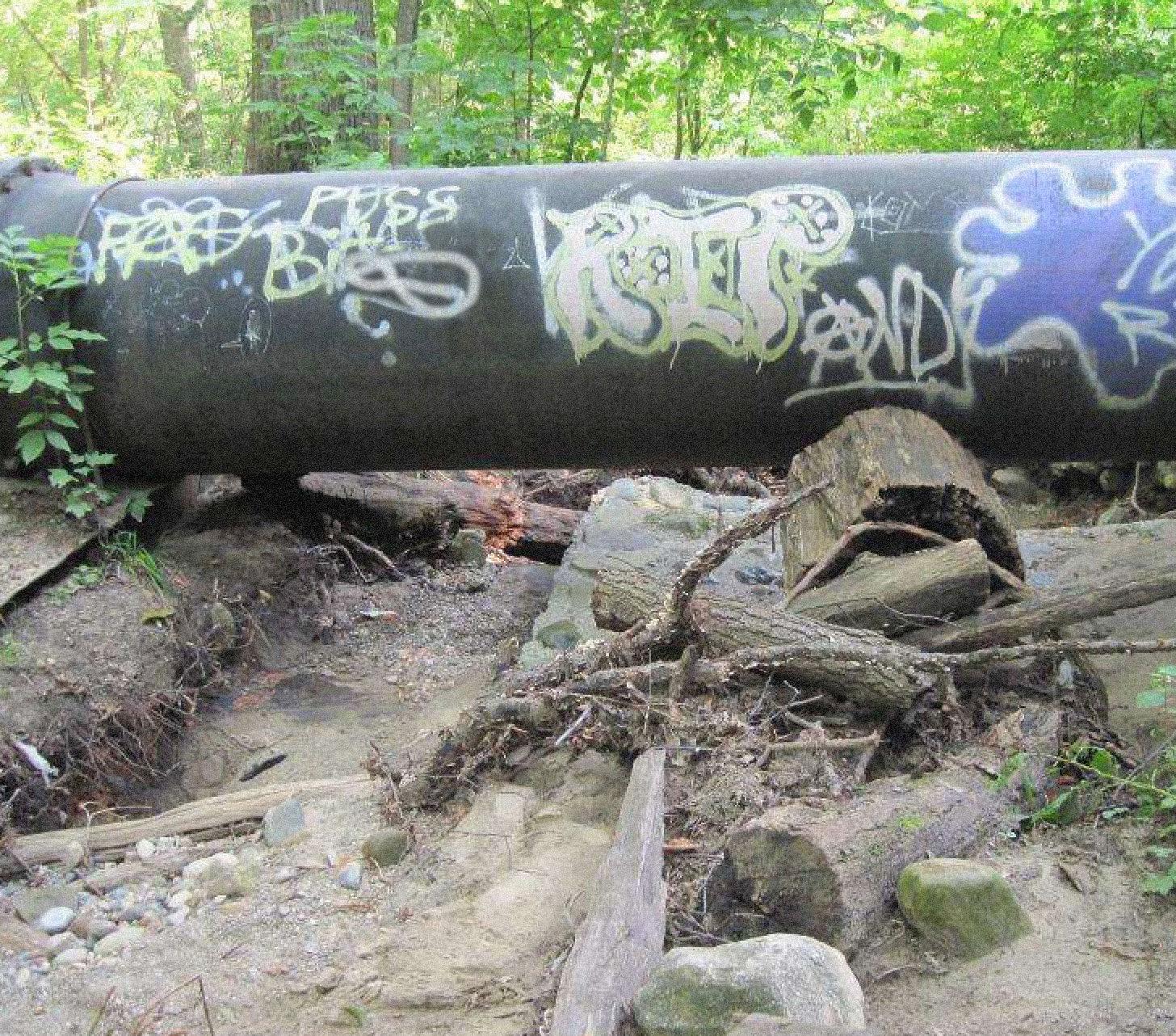 Big pipe graffiti glen