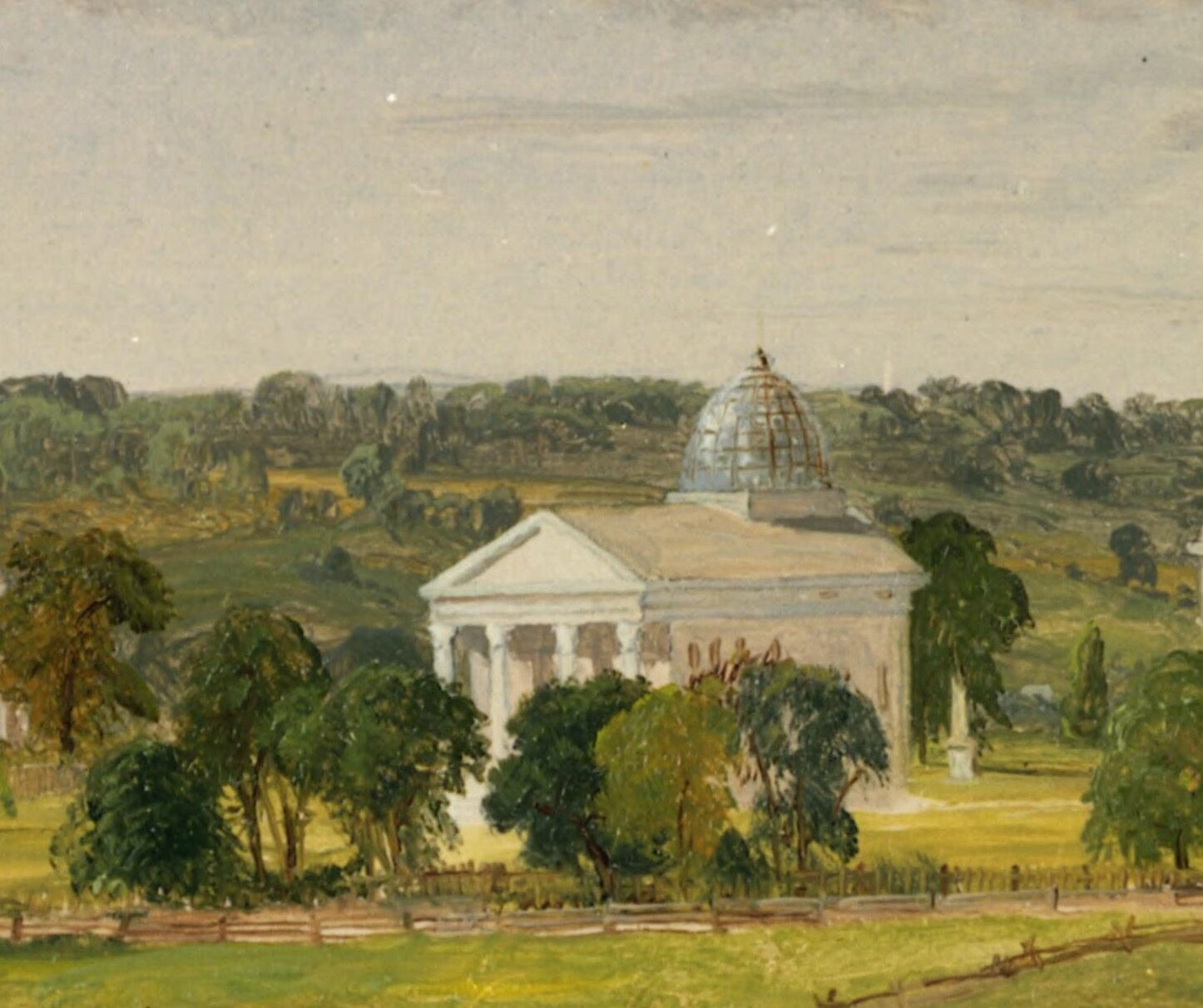 The Medical Building is the newest structure in Cropsey's painting.
